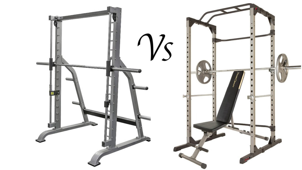 Smith Machines Vs. Free-weight Power Racks: PROs and CONs