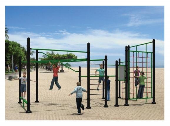 Modern Climbing Outdoor Playground Equipment for Teenager - Shinefitequipments