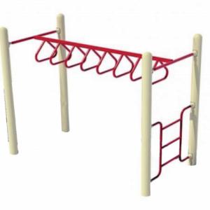 Straight Tri-Rung Overhead Ladder - Shinefitequipments